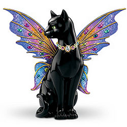 Crystal Fairy Cat Figurine
