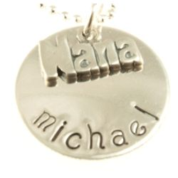 Nana's Personalized Hand Stamped Necklace