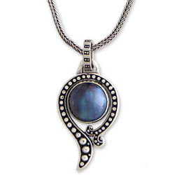 Sky Catcher Handcrafted Sterling Silver and Pearl Necklace