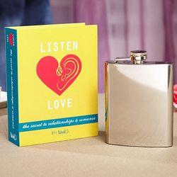 Listen and Love Hidden Flask