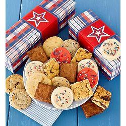 Patriotic Cookie and Brownie Gift Box