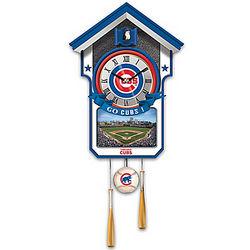 Chicago Cubs Baseball Cuckoo Clock