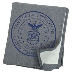 St. Michael Protect Us Air Force Sweatshirt Blanket