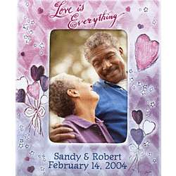 """Love is Everything"" Personalized Picture Frame"