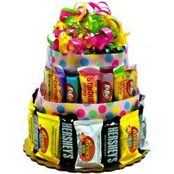 Spring Candy Bar Cake