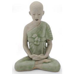 Celadon Ceramic 'Concentration' Statuette