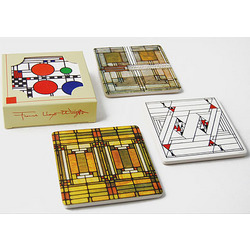 Stained Glass Designs Sandstone Coasters Set