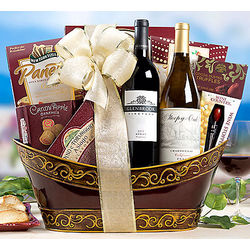 Merlot and Chardonnay Assortment Gift Basket