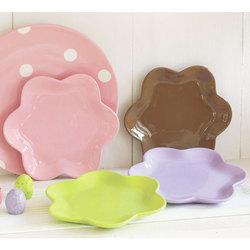 Flower-Shaped Appetizer Plates