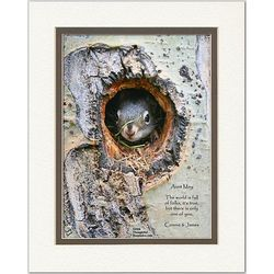 Family or Anyone Poem Personalized Squirrel Print