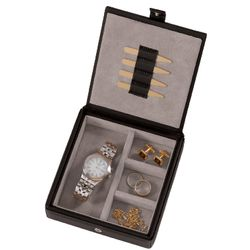 Personalized Royce Leather Watch and Cufflink Box
