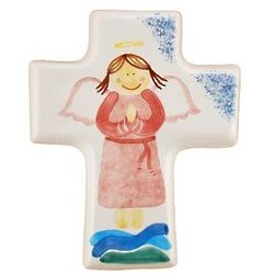 Girl Angel Small Ceramic Cross