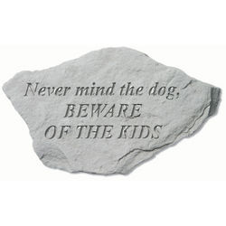 Never Mind The Dog Garden Accent Stone