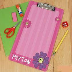 Personalized Flower Clipboard