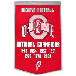 Ohio State University Vintage Wool Dynasty Banner with Cafe Rod