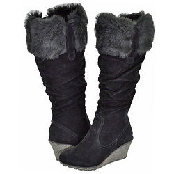 Breckelles Kansas Black Women's Casual Boots