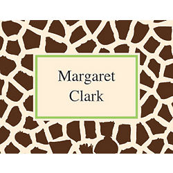 Giraffe Design Personalized Notecards