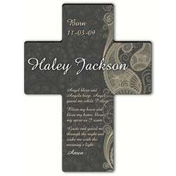 Personalized Angel Bedtime Blessing Paisley Cross