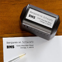 Personalized Name and Initials Return Address Stamp
