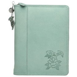Garden Path Leather Planner Cover