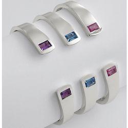 Sterling Peridot Birthstone Cuff Bracelet