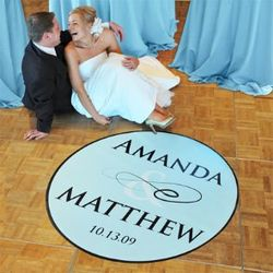 Personalized Flourish Wedding Dance Floor Decal
