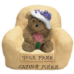 Bear with Bonnet in Chair Personalized Figurine