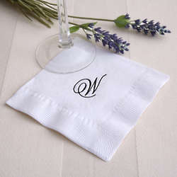 Initially Yours Personalized White Cocktail Napkins