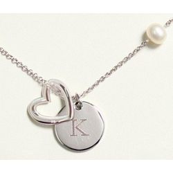 Personalized Heart Medallion Necklace for Bridesmaid or Friend