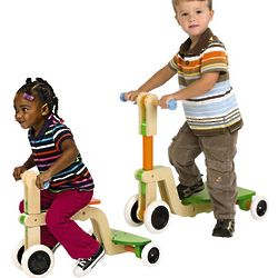 Grow-With-Me Sturdy Wooden Trike Scooter