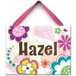Flower Doodle Personalized Ceramic Tile