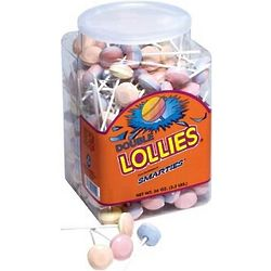 Tub of Double Lollies Candies