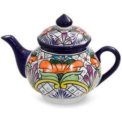 Guanajuato Flora Talavera Ceramic Coffee Pot