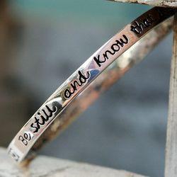 Psalm 46:10 Be Still and Know Bangle Bracelet