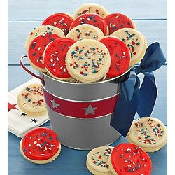Americana Cutout Cookies Gift Pail