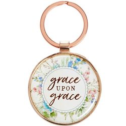 Grace Upon Grace Scripture Keyring