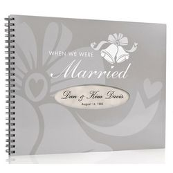Personalized Anniversary Book - Silver/Platinum Edition