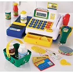 Toy Cash Register with Calculator and Conveyer Belt