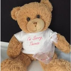 Personalized Apology Teddy Bear with Bracelet