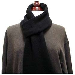 Men's Pure Cashmere Scarf in Black