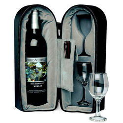 Dual Wine Glass & Bottle Travel Carry Case