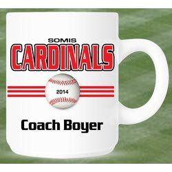 Personalized Baseball Coach or Player Mug