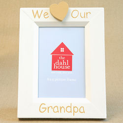 We Heart Grandpa Hand Painted Picture Frame