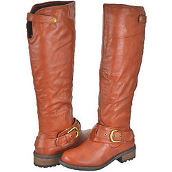 Qupid Cognac Women's Riding Boots