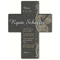 Personalized Children's Bedtime Prayer Paisley Cross