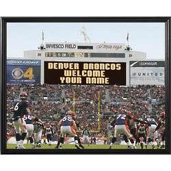 Personalized Denver Broncos Scoreboard 11x14 Canvas
