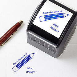 Teacher Fun Personalized Self-Inking Stamper