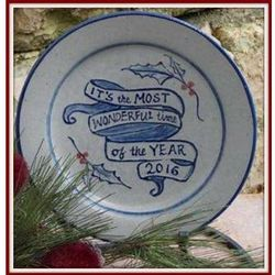 Rowe Pottery Christmas Plate