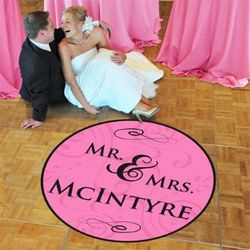Personalized Mr. & Mrs. Wedding Dance Floor Decal