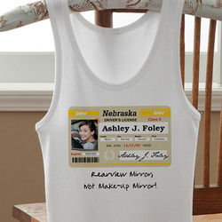 Personalized Birthday Drivers License Junior's Tank Top